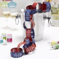 Keep Calm And Party On Paper Chains - Red & Purple (50)